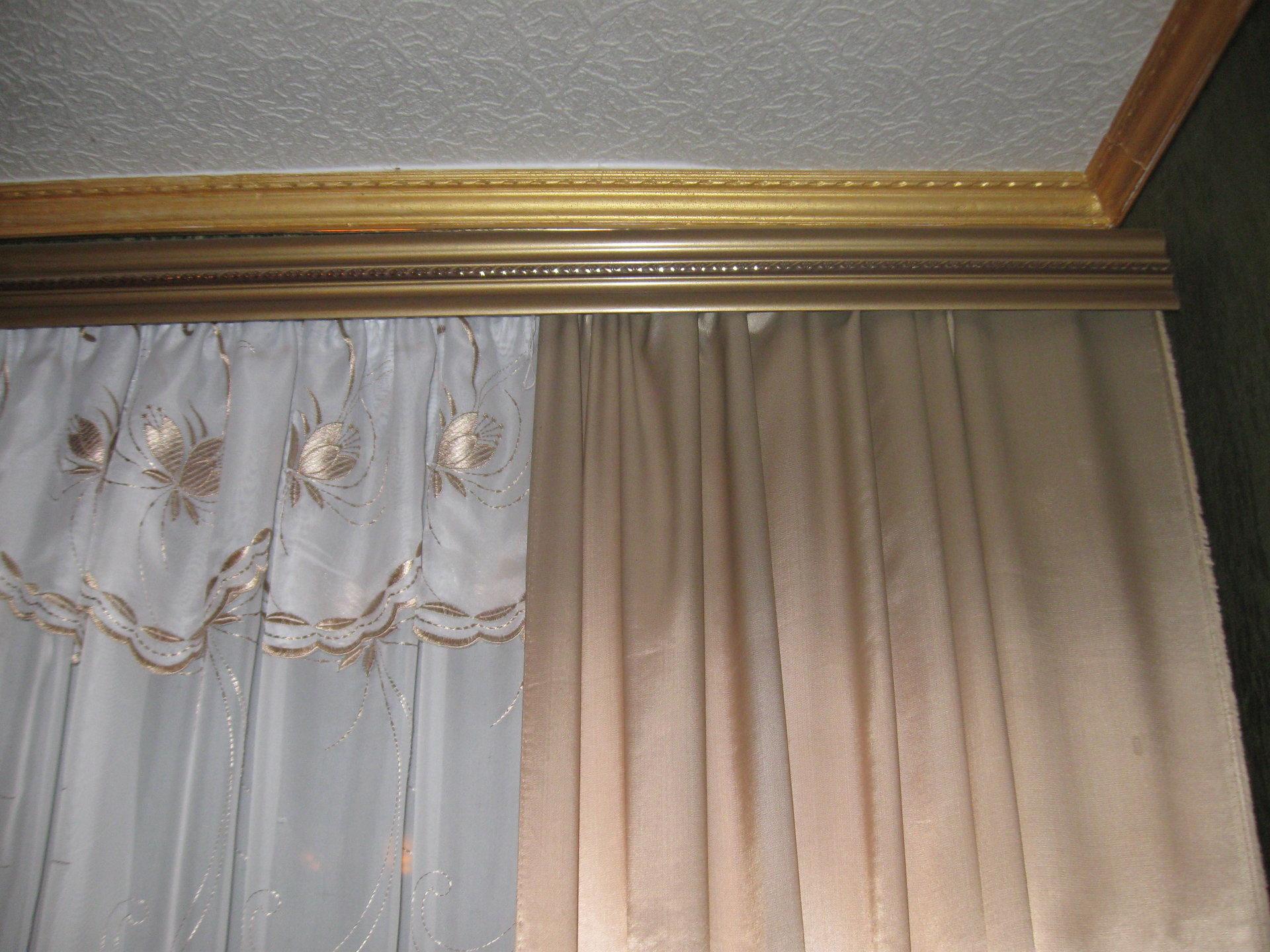 Карнизы для штор виды фото своими руками